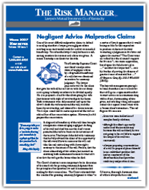 Negligent Advice Malpractice Claims