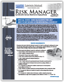 Risk Managing the 2009 Kentucky Rules of Professional Conduct: Writing Requirements