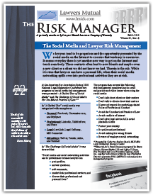 The Social Media and Lawyer Risk Management