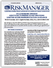 In Landmark Opinion Kentucky Supreme Court Provides Limited Scope Representation Guidance