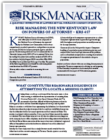 Risk Managing the New Kentucky Law on Powers of Attorney – KRS 457